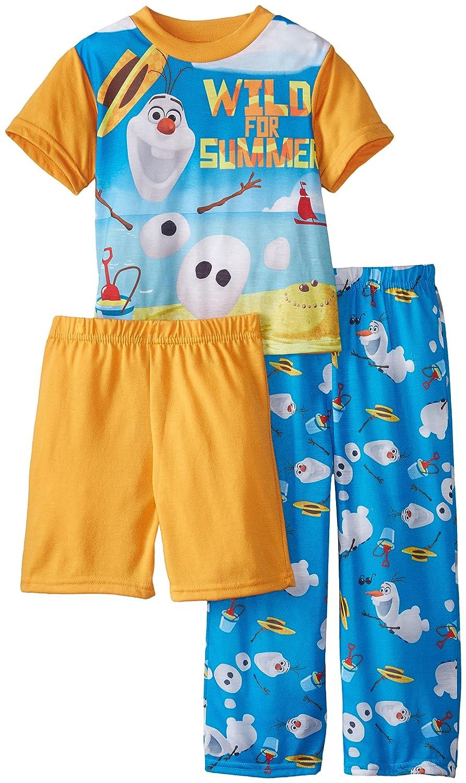 132c4a6c6 Amazon.com  Disney Boys  Frozen Olaf Wild for Summer 3 Piece Pajama ...