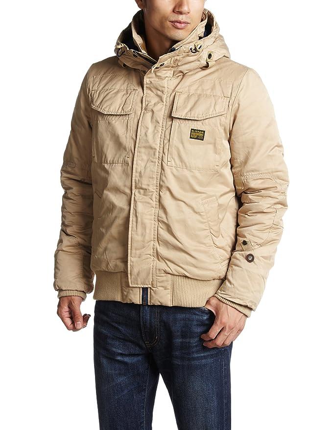 G-Star - Abrigo de manga larga con capucha para hombre, color lion 1610, talla 46: Amazon.es: Ropa y accesorios