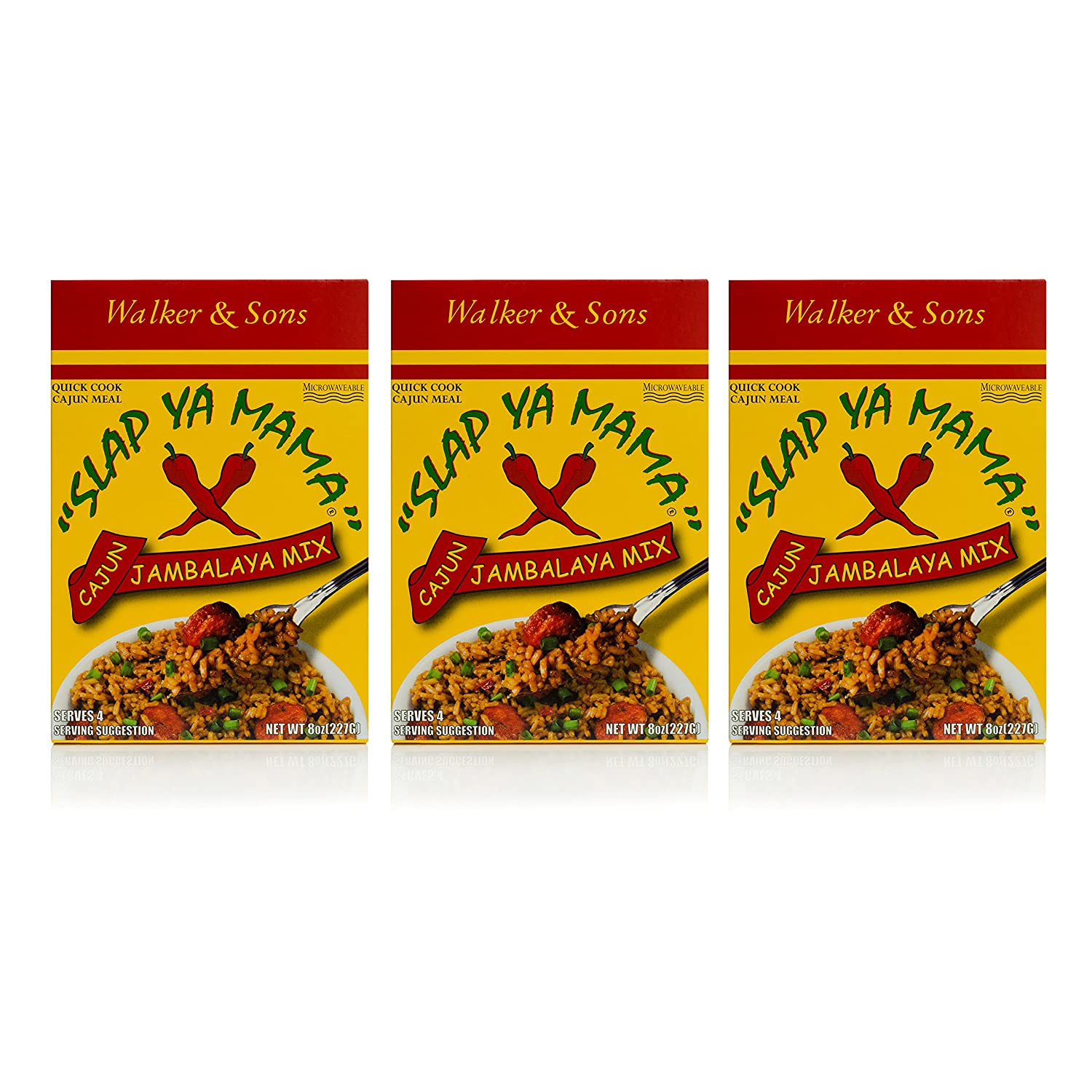 Slap Ya Mama Louisiana Style Jambalaya Dinner Mix, Quick and Easy Cajun Meal, 8 Ounce Box, Pack of 3