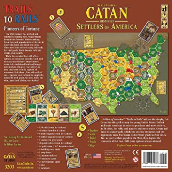 Catan Histories: Settlers of America Trails to Rails USA Again Products Bundle: Amazon.es: Juguetes y juegos