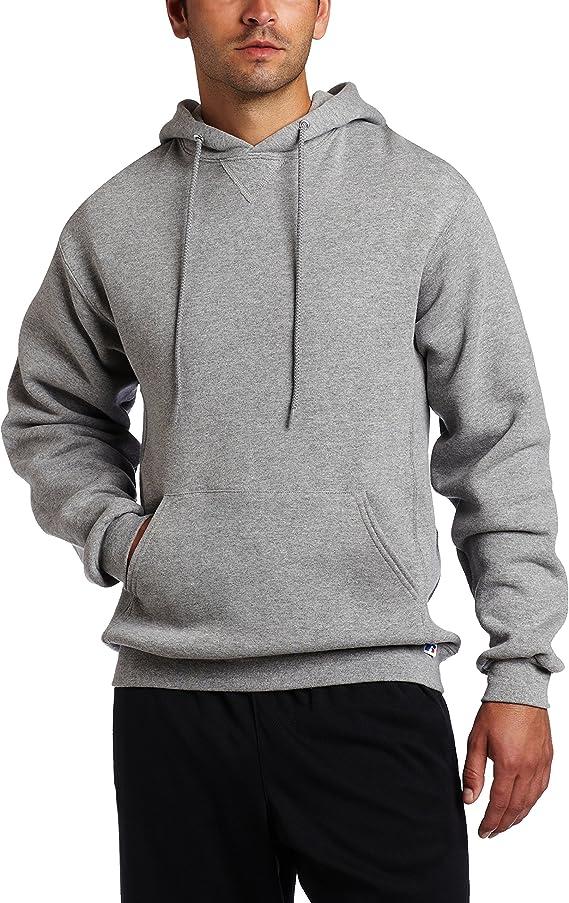 model has worn light grey hoodie