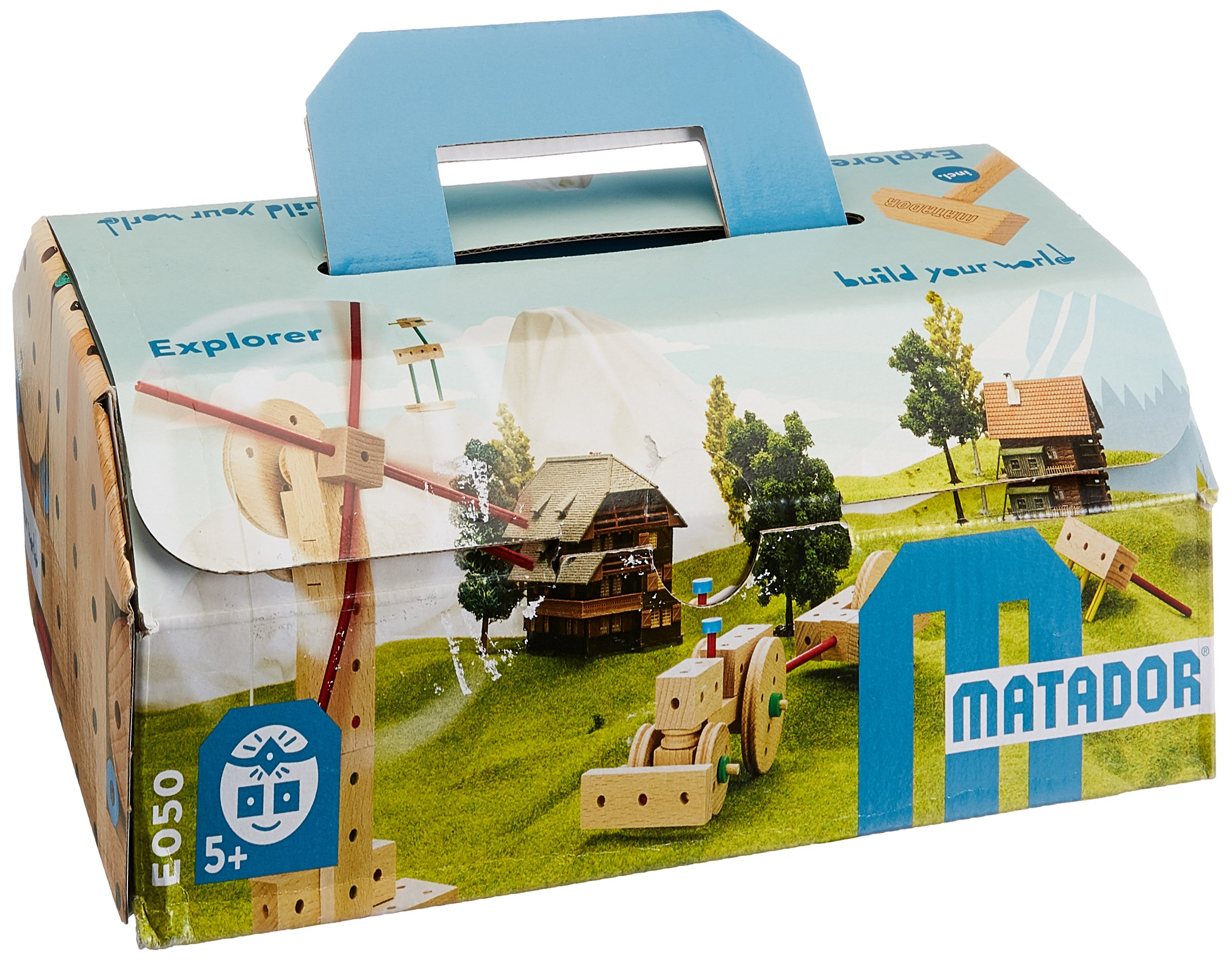 KSM Toys Matador Classic 0 - 99 Piece 3-Dimensional Wooden Building Set for Ages 5 + (Made in Austria)