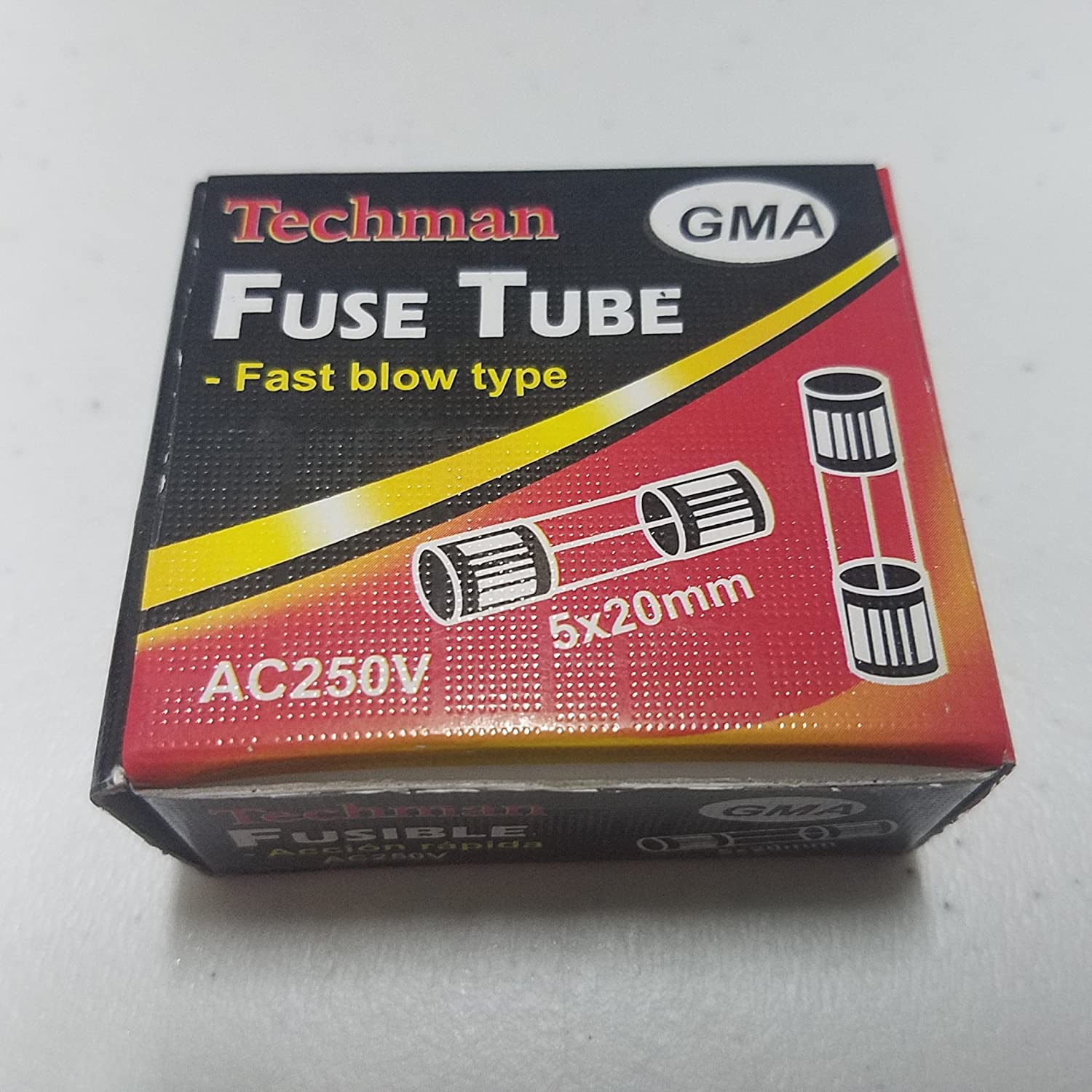 Fast Blow Fast Blow Fast Acting 5mm x 20mm Pack of 5-10A Glass Fuse Fast Acting 3//16 X 3//4 GMA 5mm x 20mm 3//16 X 3//4 250v Techman F10AL250V