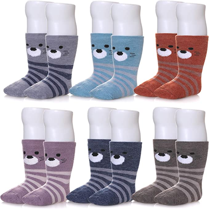 New Baby Kids Autumn Winter Keep Warm Wool Thickening Soft Knitted Socks LE
