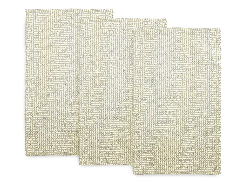 Dyckhoff 3er-Pack Badteppich Drops – klassisch und modernes Design 144.155, Badvorleger (60 x 100 cm), beige braun B00GAYTODO Badematten & -teppiche