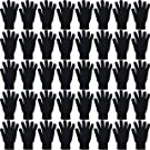 48 Pairs Winter Magic Gloves, Wholesale Bulk Warm Brushed Interior, Stretchy Assorted Mens Womens