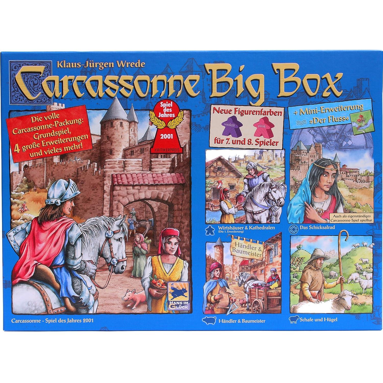 Carcassonne Big Box 2014 Grundspiel Mit Fluss 4 Erweiterungen
