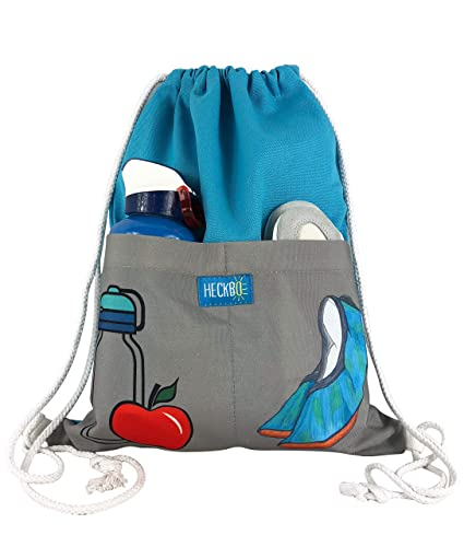 Mochila HECKBO® con 2 prácticos bolsillos color turquesa ...