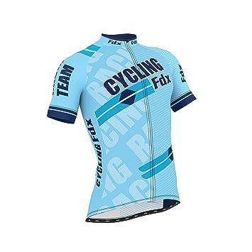 FDX Mens Cycling Jersey Half Sleeve Top Cycle Racing Team Breathable Biking  Shirt (Sky Blue 307c0c1b1