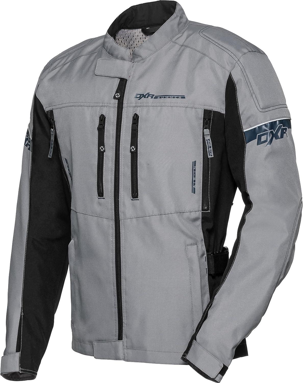 Ellbogen- Schulter- Motorrad Jacke Herren Sommertour Textiljacke Grau Reflexmaterial DXR Motorradjacke Verbindungsrei/ßverschluss M-4XL R/ückenprotektor-Taschen Bundweitenverstellung