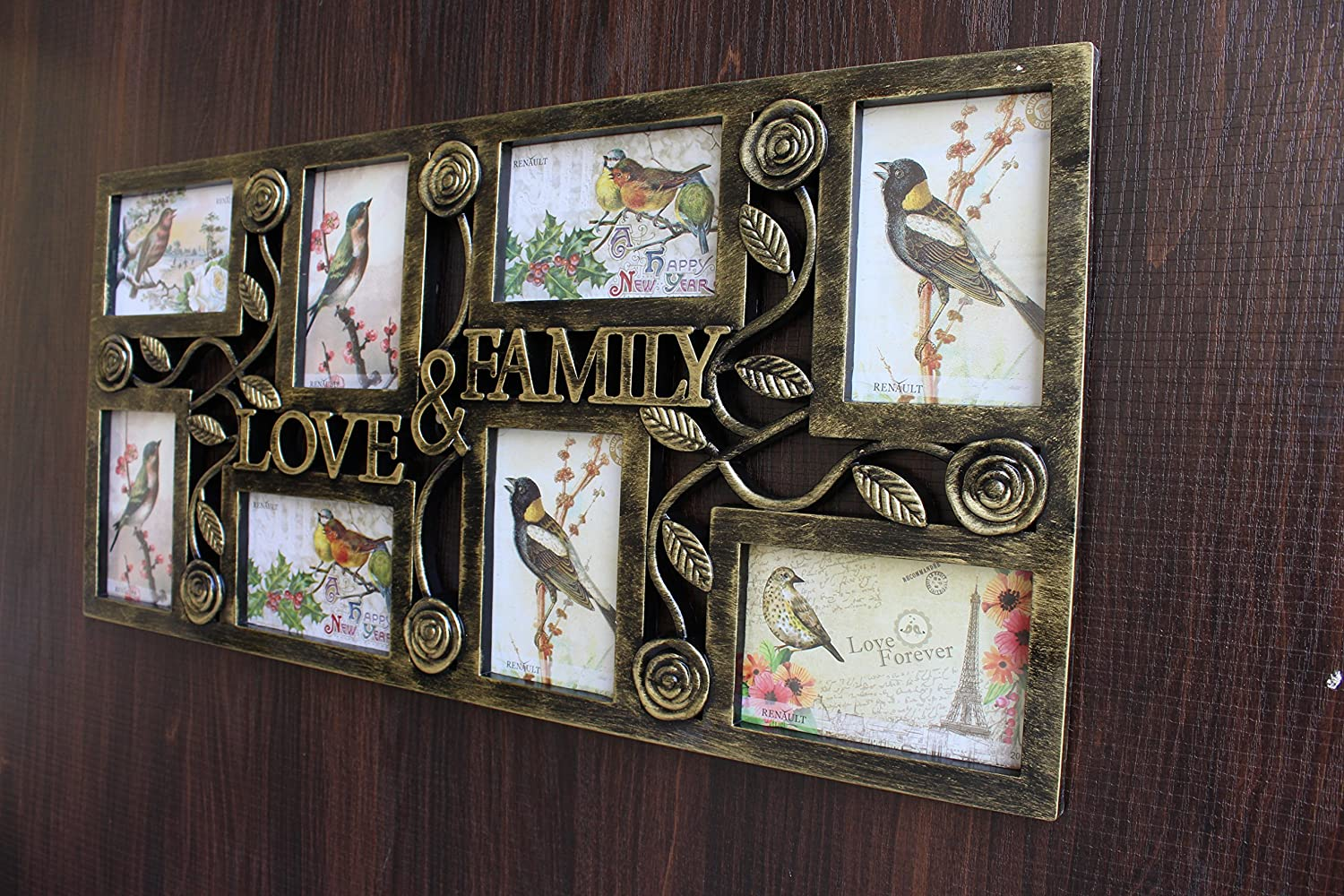 aa6d012b036 Buy FunkyTradition Wooden Texture Love and Family Frames for 8 Photos (70cm  wide) Online at Low Prices in India - Amazon.in