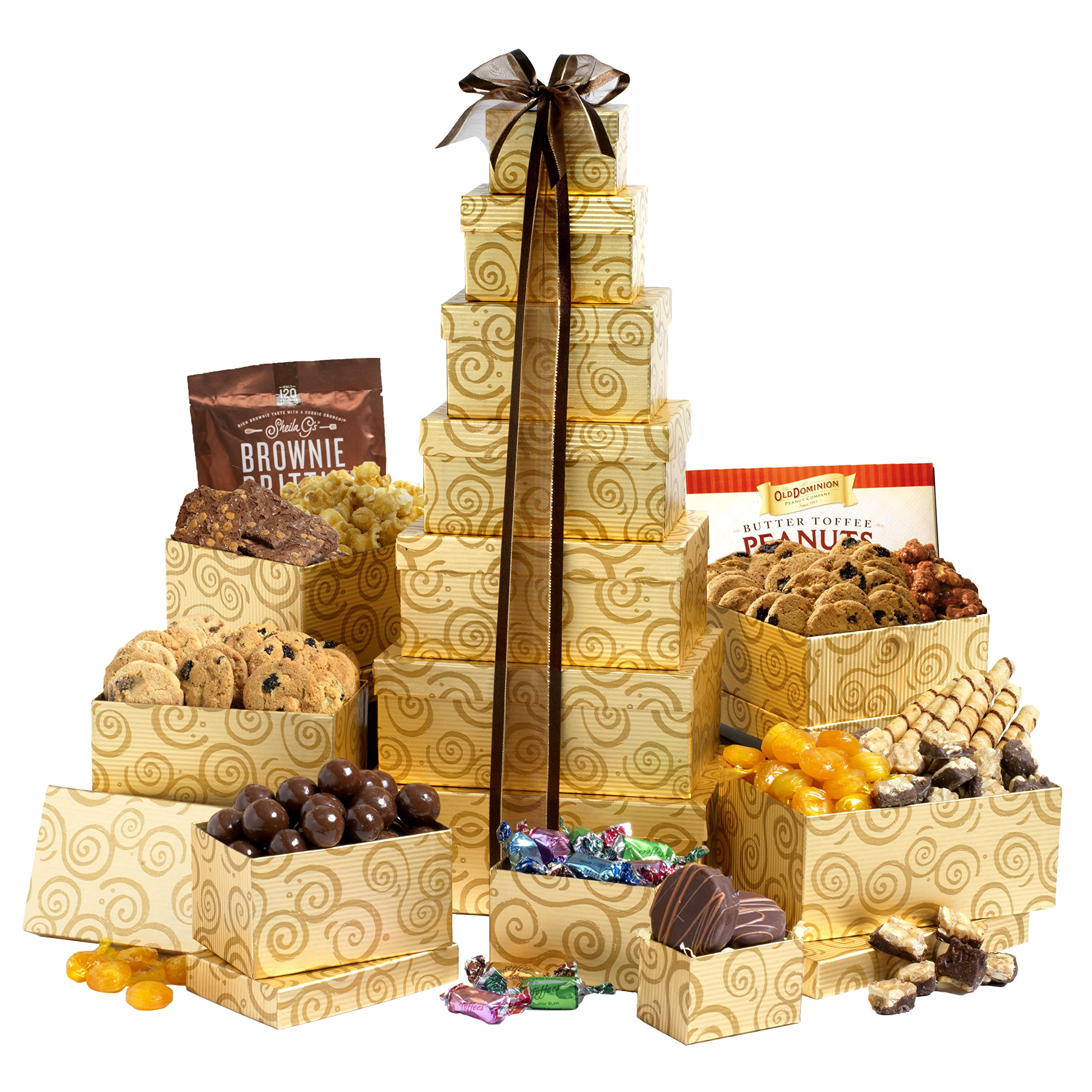 Broadway Basketeers Festive Gift Tower by Broadway Basketeers