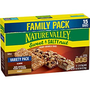 Nature Valley Sweet & Salty Nut Peanut Almond Dark Chocolate Granola Bars 15ct