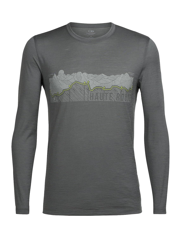Icebreaker 150 Tech Lite Longsleeve Crewe Shirt Haute Route Men - Merino Outdoorshirt