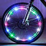 Waterproof LED Bike Wheel Light - DAWAY A01+ Bicycle Spoke Light, Cool Safety Bike Tire Accessories, Light Up Spokes, Super Bright, 2 Modes, Battery Included, Gifts for Kids Adults, 1 Pack
