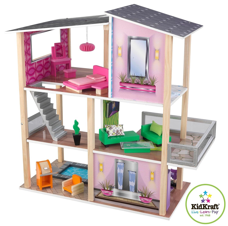 Kidkraft Modernes Wohnhaus für Mini-Puppen