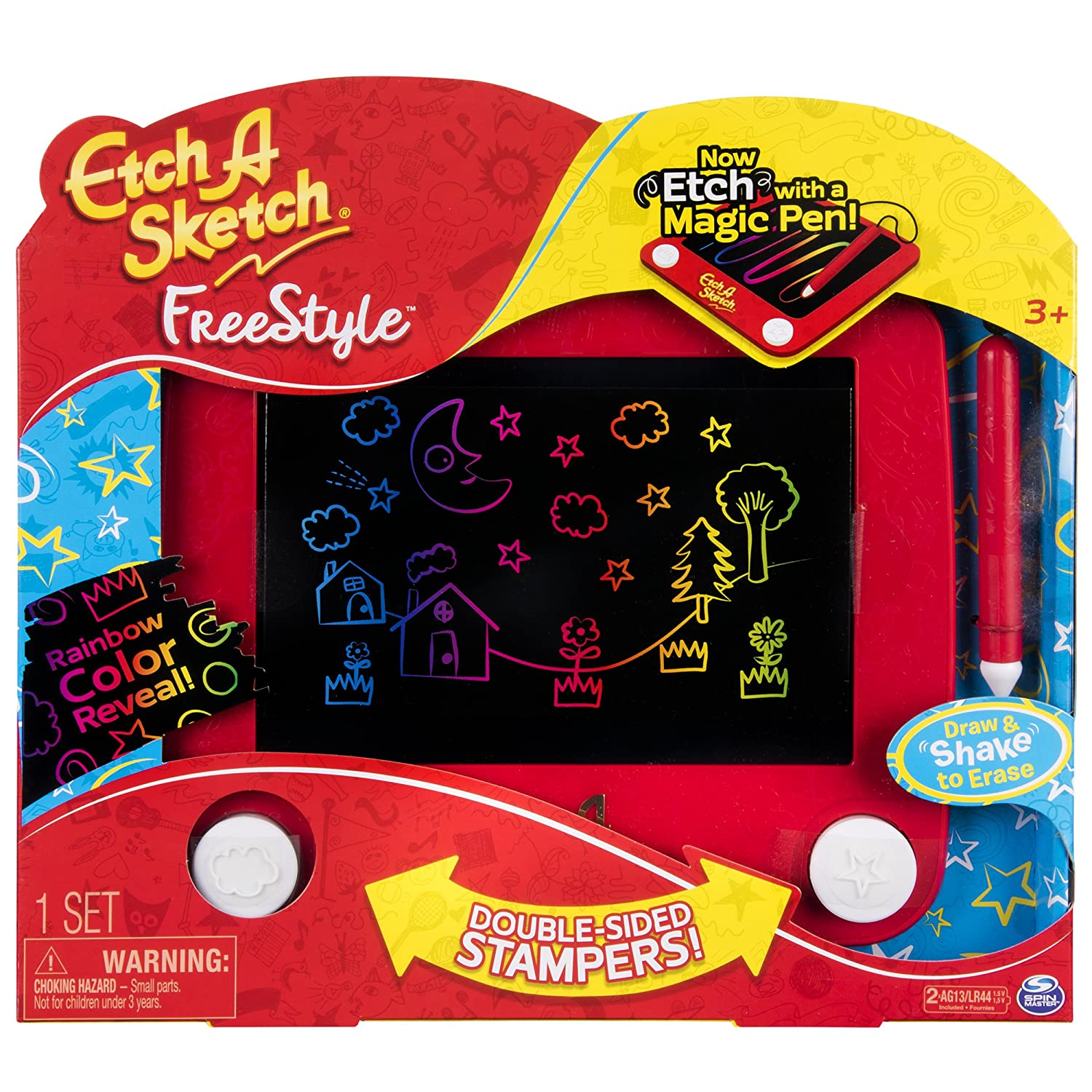 Freestyle Drawing Pad with Stylus and Stampers Etch A Sketch
