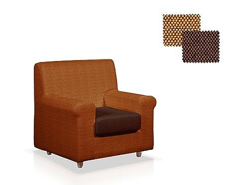 JM Textil Funda para sillón Color Naranja y marrón 1 plazas ...