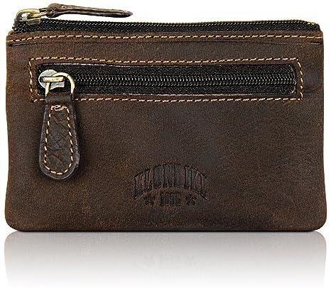 Klondike 1896 Estuche para llaves Luke, llavero de cuero de alta calidad, color marrón oscuro