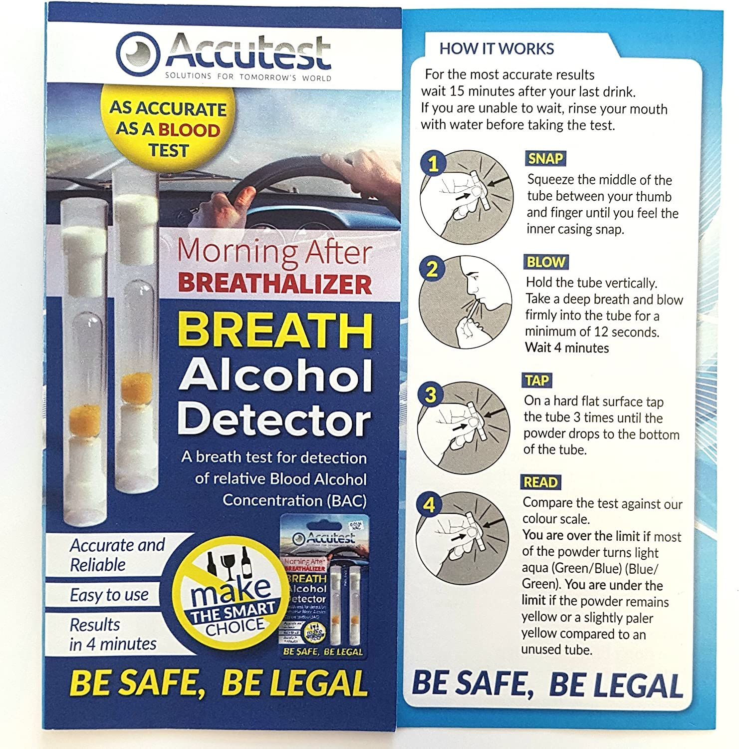 2 X Alcohol Breathalyzer Breath Tester Kit France Europe Germany Certified New