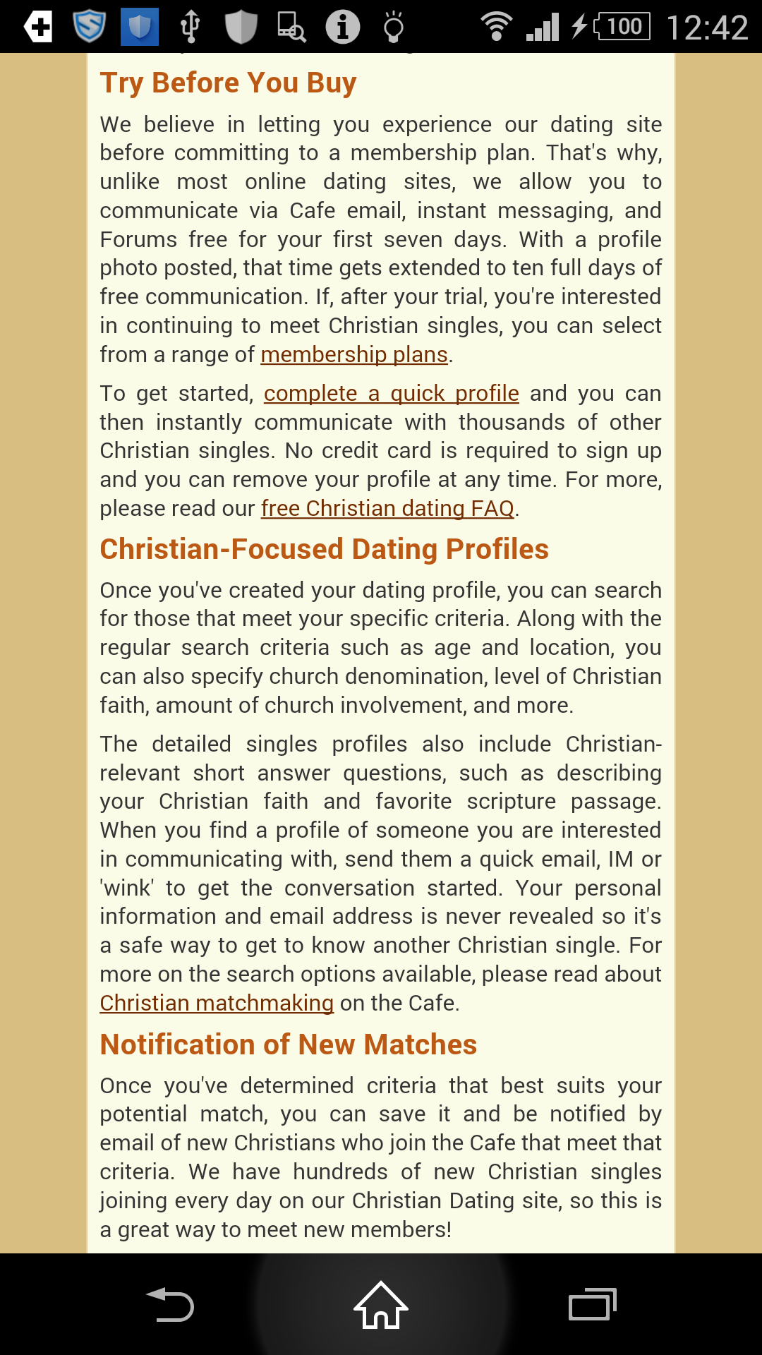 No credit card christian dating sites
