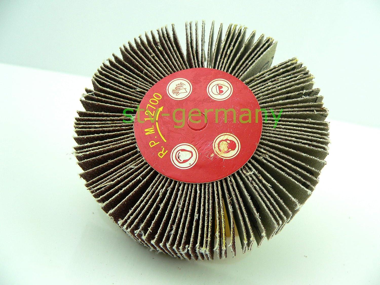 F/ächerschleifer Schleifmop Schleifstift verschiedene /Ø und K/örnungen 20x25x6, K100
