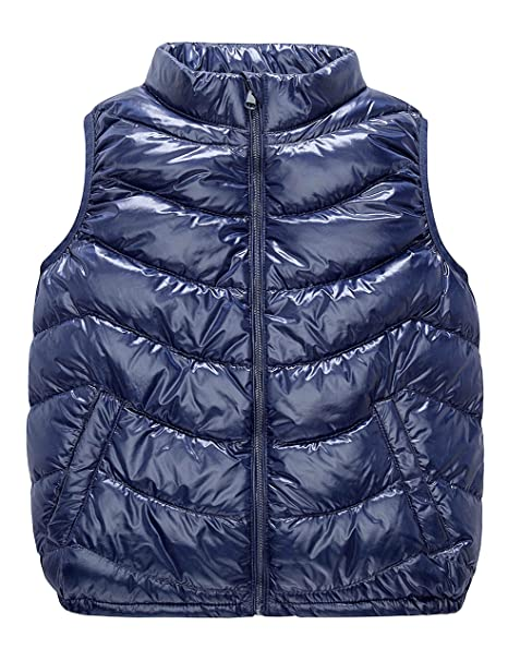 7bbb84756460 IKALI Kids Packable Ultralight Down Gilet with Collar  Amazon.co.uk ...