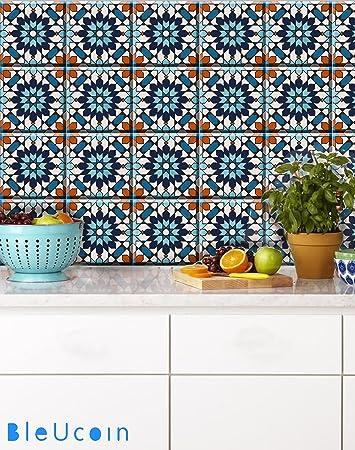 Schon Marokkanische Fliesen Aufkleber Für Küche Und Badezimmer Backsplash,  Entfernbare Treppensteiger Vinylaufkleber, Schälen