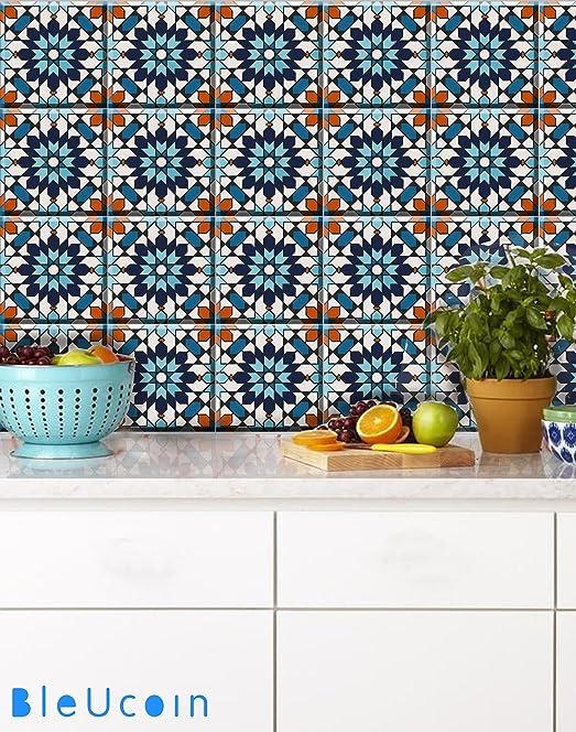 moroccan kitchen tiles uk. moroccan tile stickers kitchen and bathroom backsplash, removable stair riser peel \u0026 stick home tiles uk