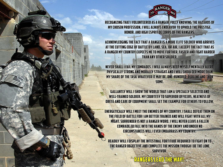 Army Rangers Creed Poster Army Ranger Creed 18X24 (RANGERSV80)