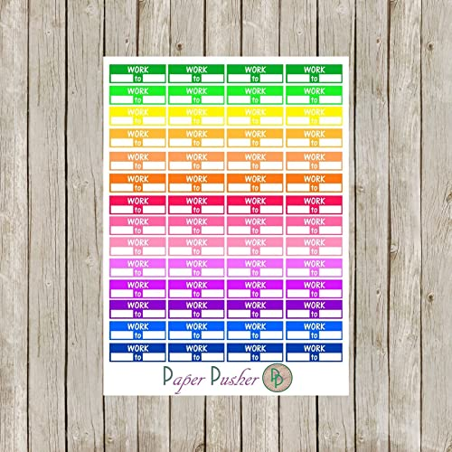 amazon com work schedule planner stickers made to fit most planners