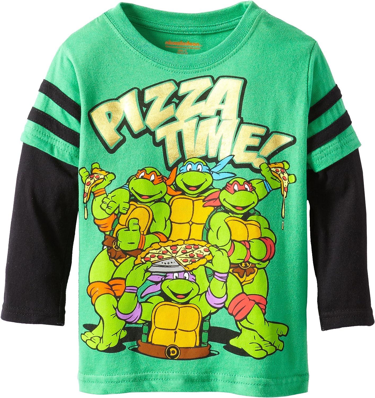 Amazon.com: Nickelodeon Boys Ninja Turtle Pizza Time Long ...