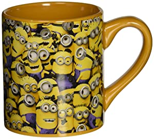 Silver Buffalo DM0132 Despicable Me Cluttered Minions Ceramic Mug, 14-Ounces
