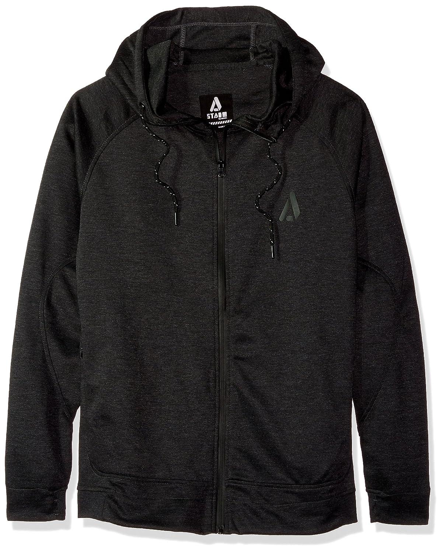 Akademiks Men's Long Sleeve Zip-up Hoodie Sweatshirt, Charcoal Smoke, X-Large