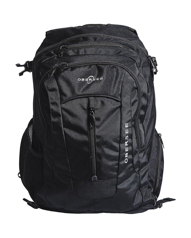 Obersee Bern Diaper Bag Backpack, Black O3BBP001