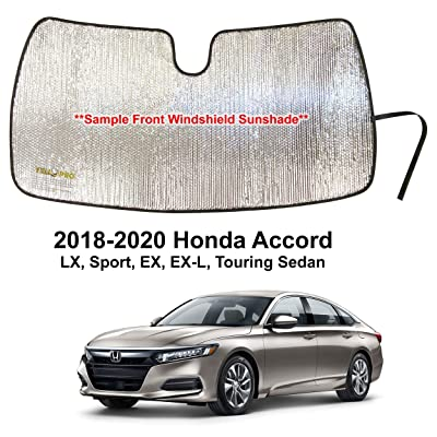 YelloPro Custom Fit Automotive Reflective Front Windshield Sunshade Accessories UV Reflector Sun Protection for 2020 2020 2020 Honda Accord LX, Sport, EX, EX-L, Touring Sedan: Automotive
