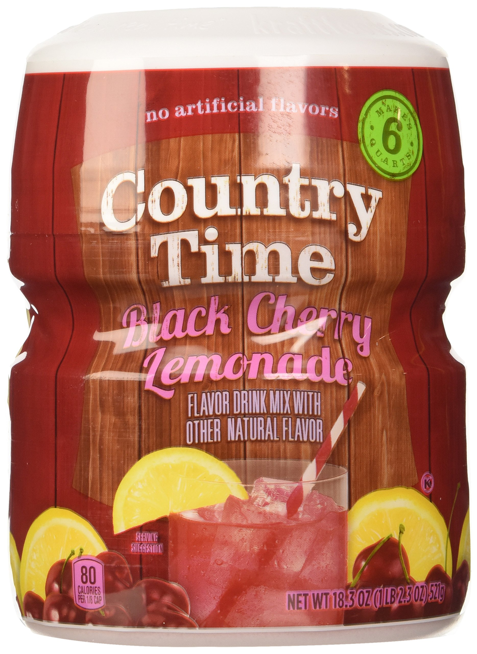 Country Time, Black Cherry Lemonade Drink Mix, 18.3oz Tub (Pack of 3)