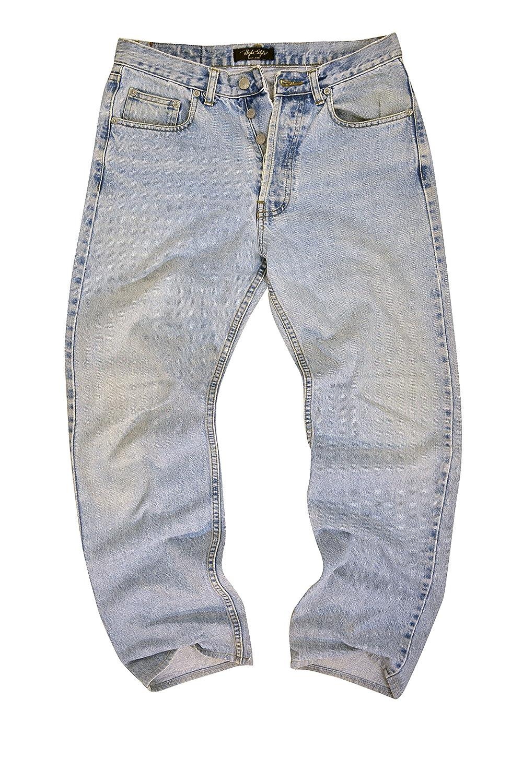 #M1029-N041 Men's Relax Straight Leg Stylish Premium Jeans Size: 32