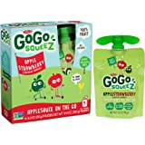 GoGo squeeZ Applesauce on the Go, Apple Strawberry, 3.2-Ounce Portable BPA-Free Pouches, 4 Pouches