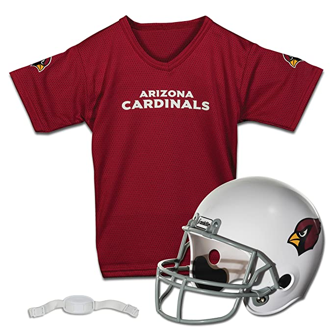 fe44da83ae3 Amazon.com   Franklin Sports NFL Arizona Cardinals Replica Youth Helmet and  Jersey Set   Sports Fan Jerseys   Clothing