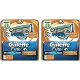 Gillette Fusion vudTyO ProGlide Power Mens Razor Blade Refills, 6 Cartridge (Pack of 2)