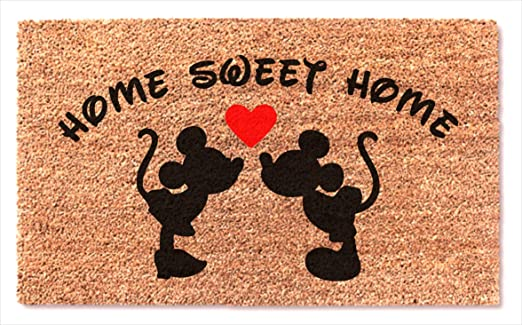 MaxEcor Felpudo con diseño de corazón besando sobre Mickey ...