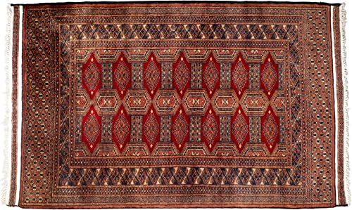 Traditional Vintage Wool Turkish Rugs – Kilim Persian Rugs Stylish Handmade – Handwoven Dense Knotted Carpets 37 x61 , Brown