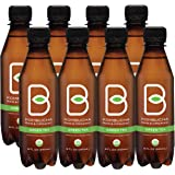 B-tea Kombucha Raw Organic, Only 2g of Sugar, Probiotics and Prebiotic, Kosher Green Tea, 8 oz. (pack of 8)