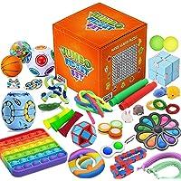 MIAB 41 Pcs Sensory Fidget Toys Set, Fidget Toys for Kids, Adults – Anxiety Fidget Toys Box Set for Fresh Mood and Fun…