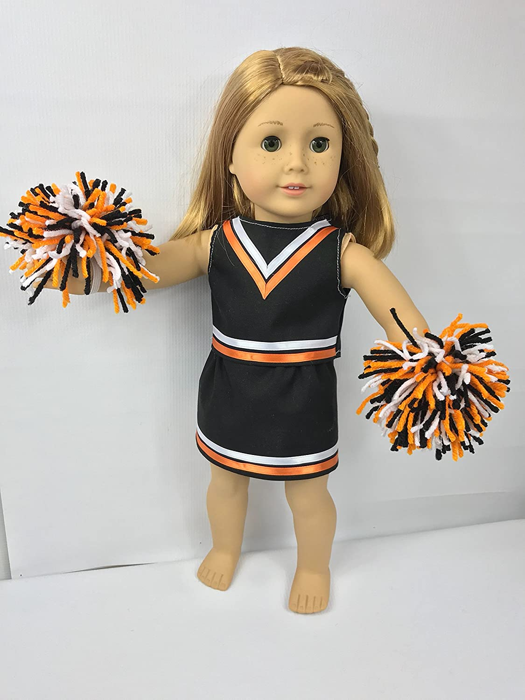 Amazoncom Doll Cheerleader Uniform With Pom Poms For 18 Dolls