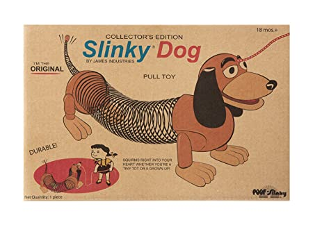 slinky dog. amazon.com: the original slinky brand dog in retro packaging: toys \u0026 games n