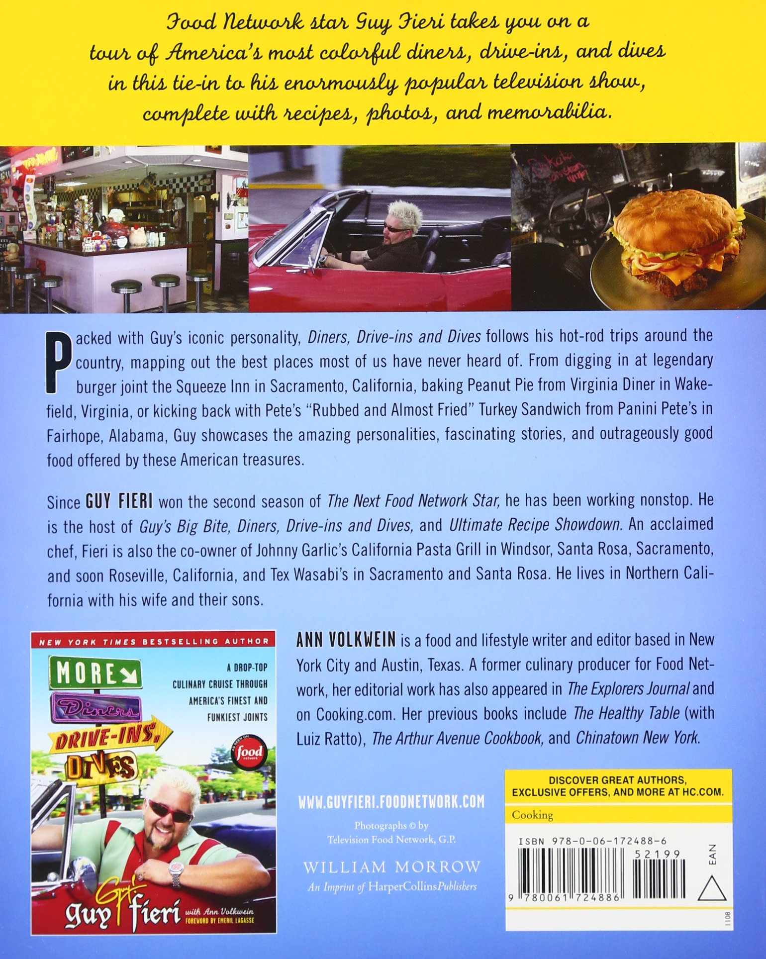 Diners drive ins and dives an all american road trip with recipes guy fieri ann volkwein 9780061724886 amazon com books