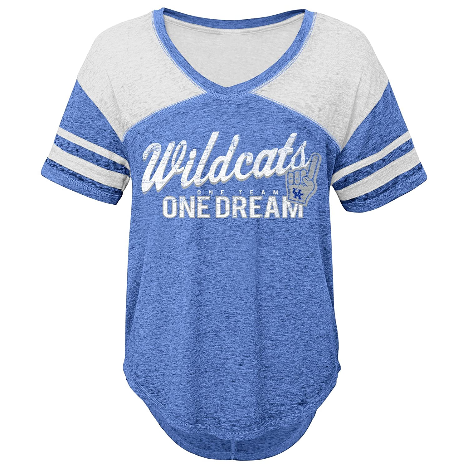 Small NCAA Kentucky Wildcats Juniors Outerstuff Vintage Short Sleeve Football Tee 3-5 Team Color