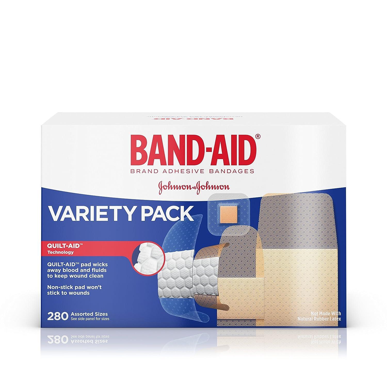 amazon com band aid brand adhesive bandage variety pack sheer and